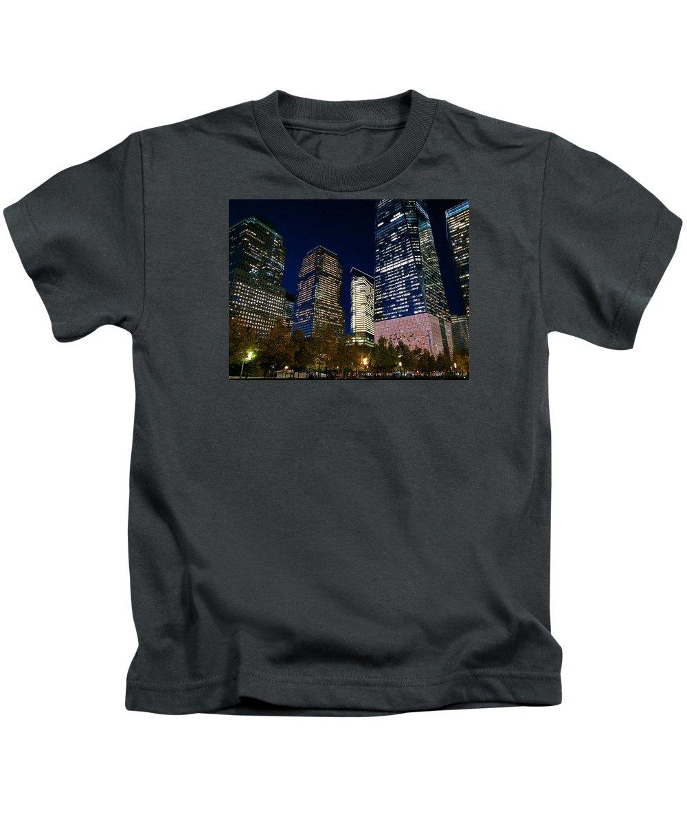 New York Kids T-Shirt featuring the photograph Ground Zero by Matt Matthews