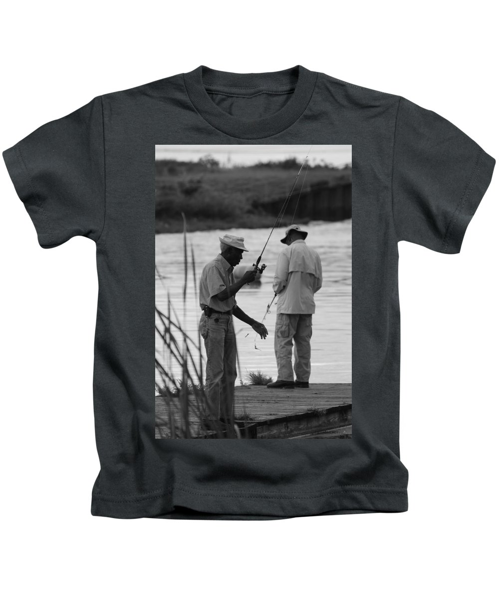 Men Kids T-Shirt featuring the photograph Grumpy Old Men by Rob Hans