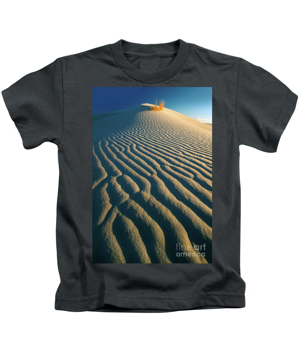 America Kids T-Shirt featuring the photograph Guadalupe Dunes by Inge Johnsson