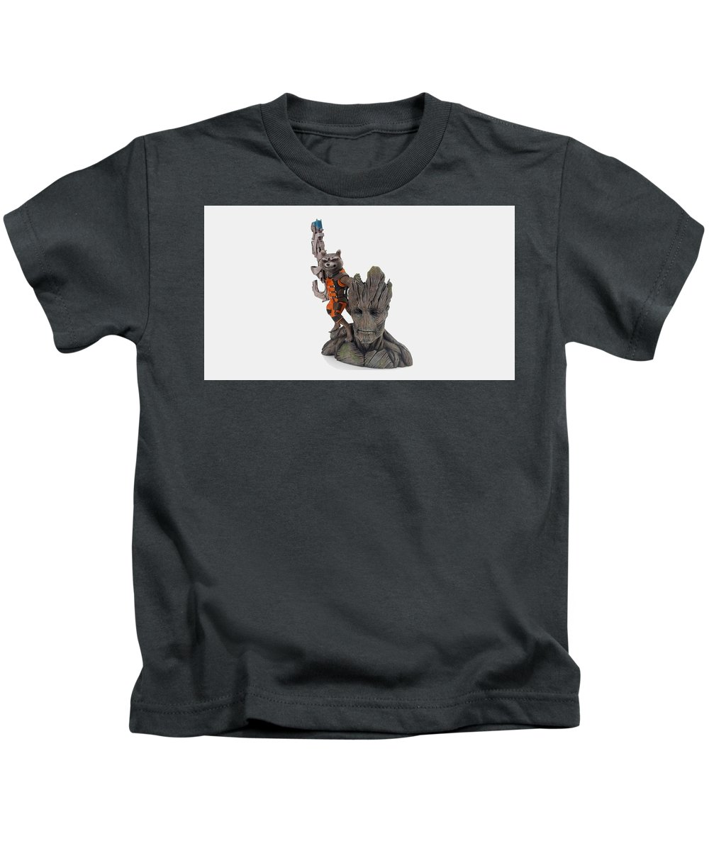 Guardians Of The Galaxy Kids T-Shirt featuring the digital art Guardians Of The Galaxy by Dorothy Binder