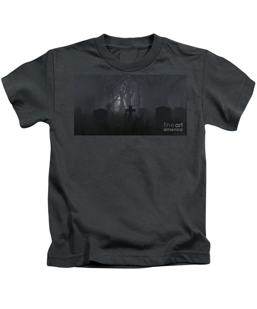 Death Kids T-Shirt featuring the digital art Guiding Light by Richard Rizzo