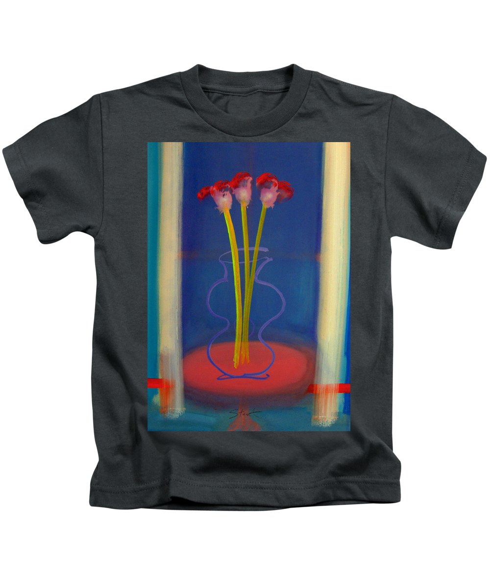 Guitar Kids T-Shirt featuring the painting Guitar Vase by Charles Stuart