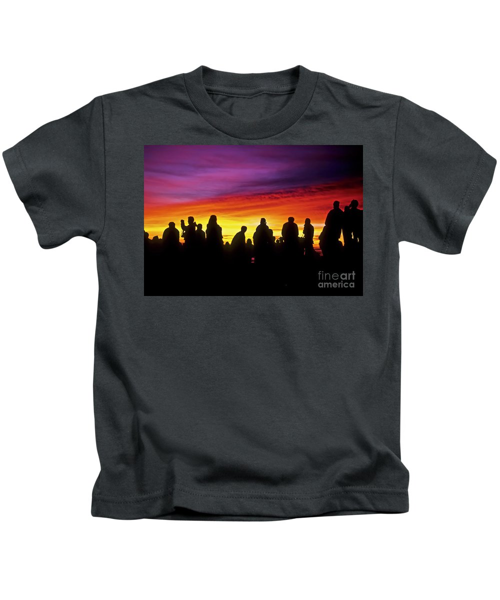 Haleakala Sunrise Kids T-Shirt featuring the photograph Haleakala Color Show by Jim Cazel