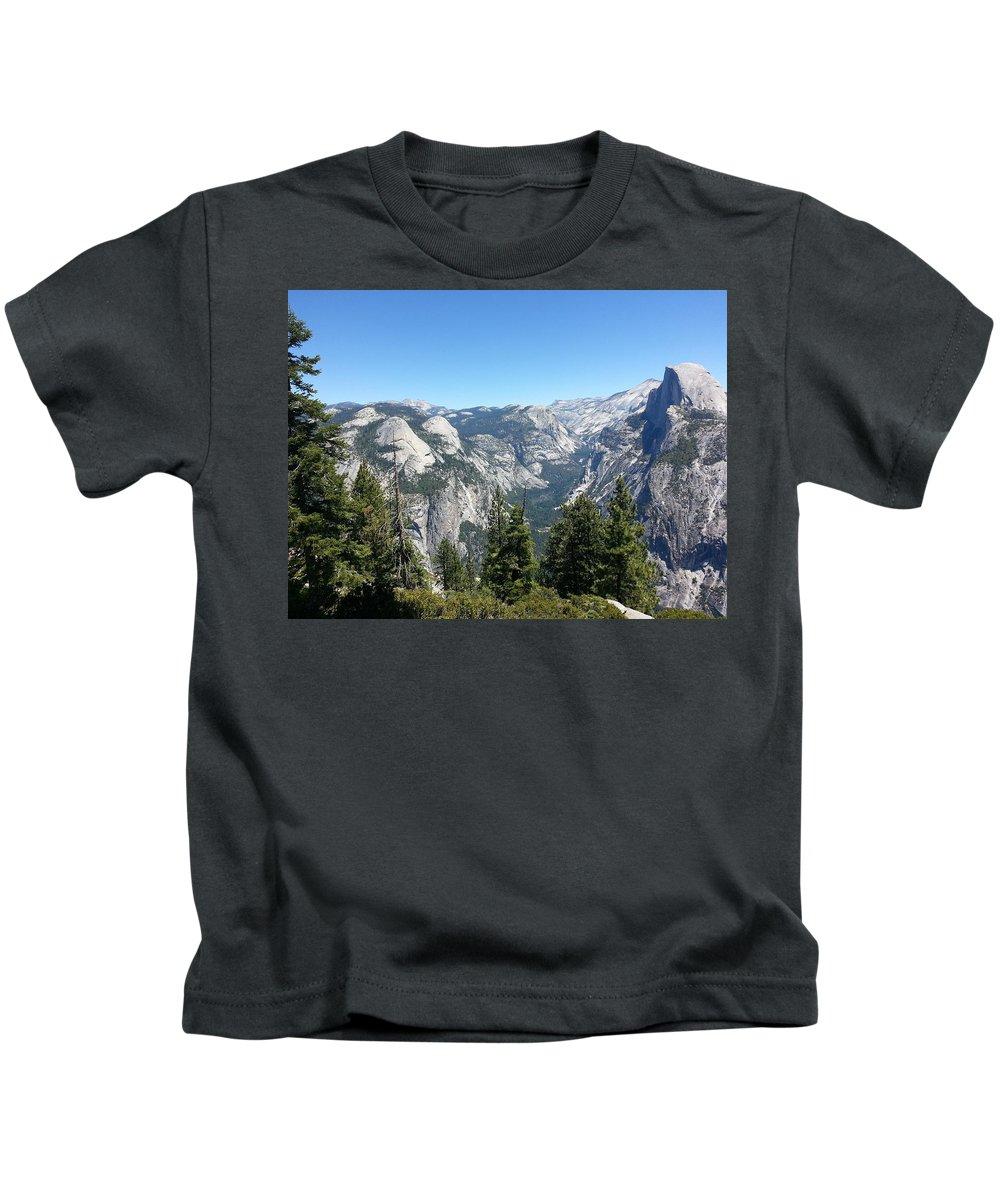Half Dome Kids T-Shirt featuring the photograph Half Dome by Derek Ryan Jensen