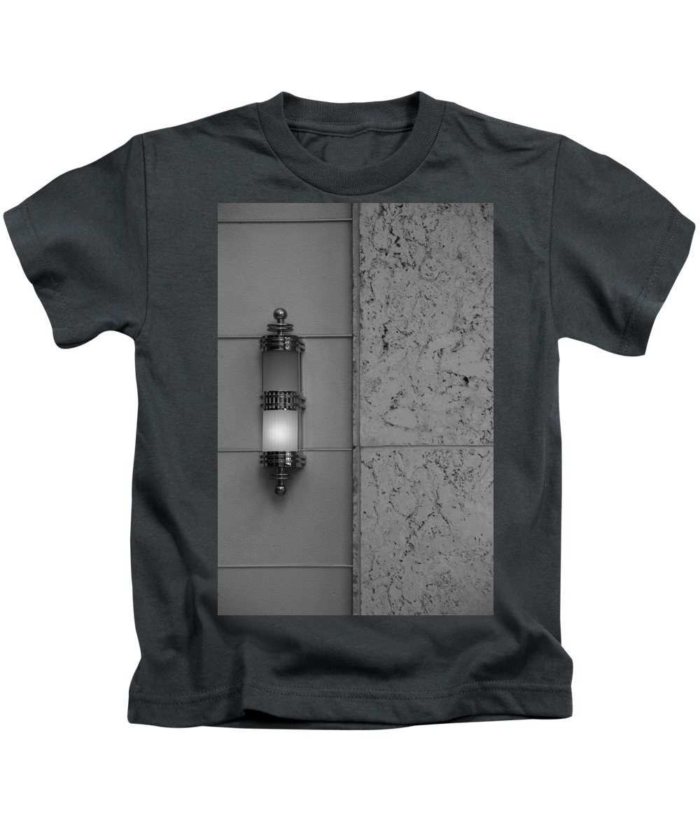 Sconce Kids T-Shirt featuring the photograph Half Lit Wall Sconce by Rob Hans