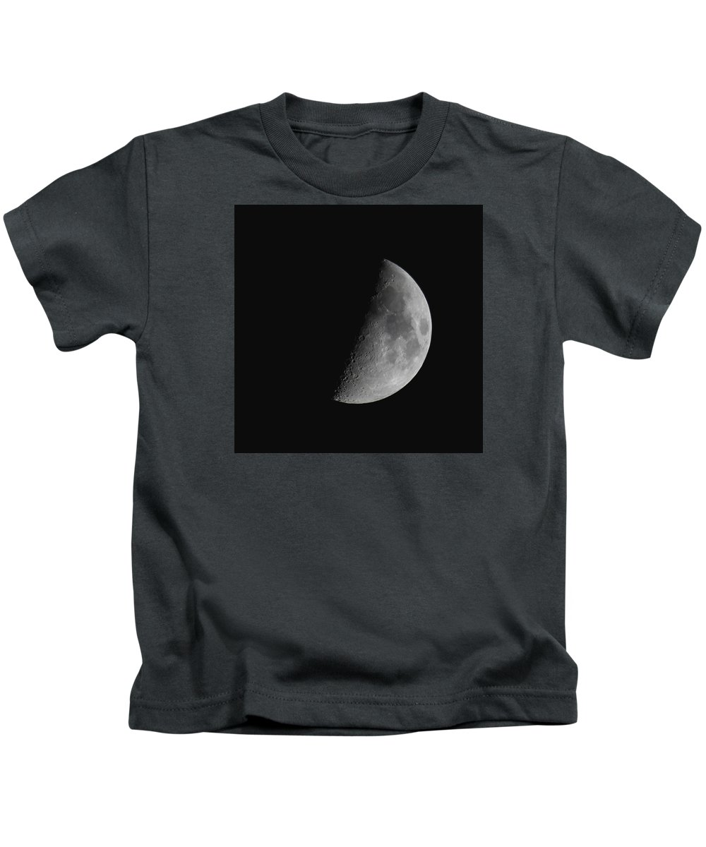 Moon Kids T-Shirt featuring the photograph Half Moon by Tom Kostro