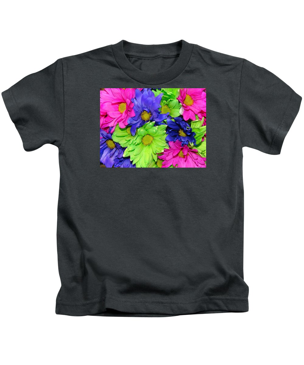 Flowers Kids T-Shirt featuring the photograph Happiness by J R  Seymour