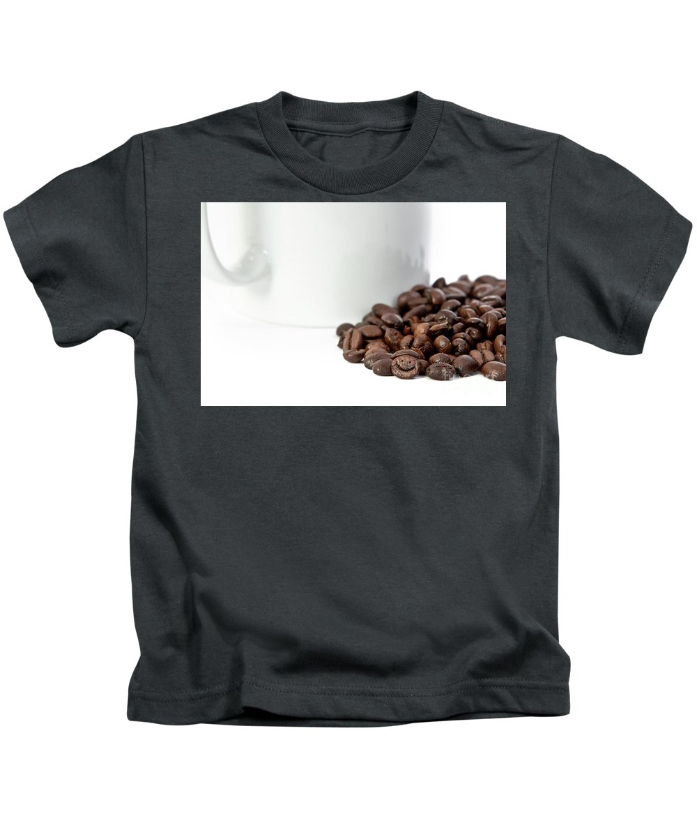 Coffee Kids T-Shirt featuring the photograph Happy Bean by Carl Saathoff