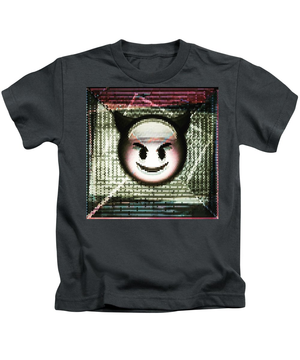 Happy Kids T-Shirt featuring the digital art Happy Devil by Marko Sabotin
