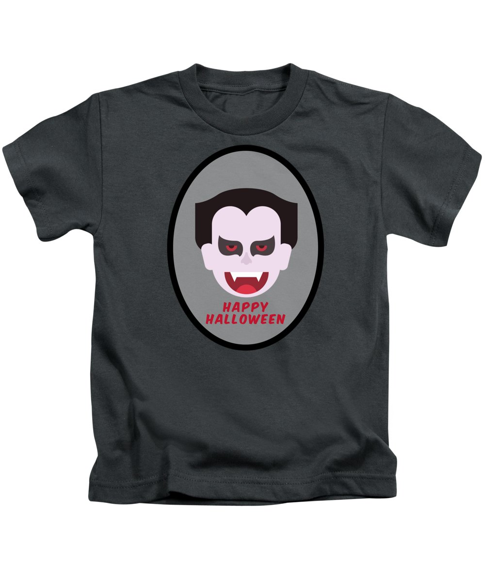 Zombie Kids T-Shirt featuring the digital art Happy Halloween by Esoterica Art Agency