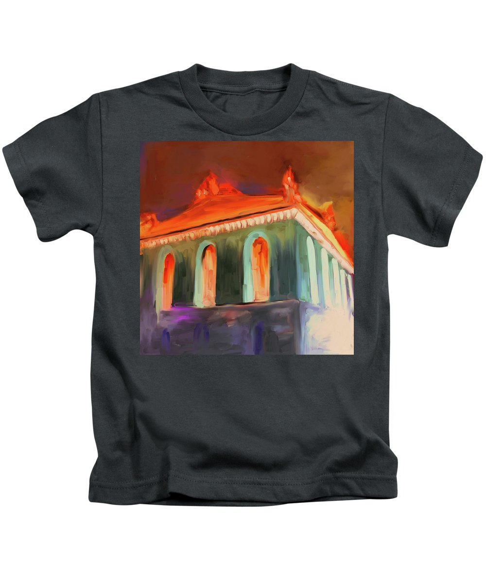 Chicago Kids T-Shirt featuring the painting Harold Washington Library 539 4 by Mawra Tahreem