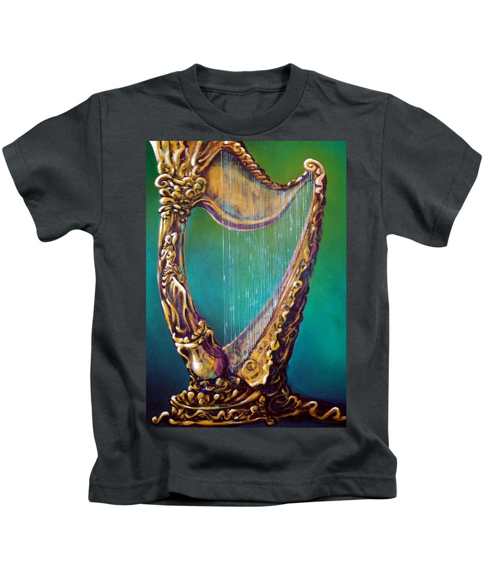 Harp Kids T-Shirt featuring the painting Harp by Kevin Middleton