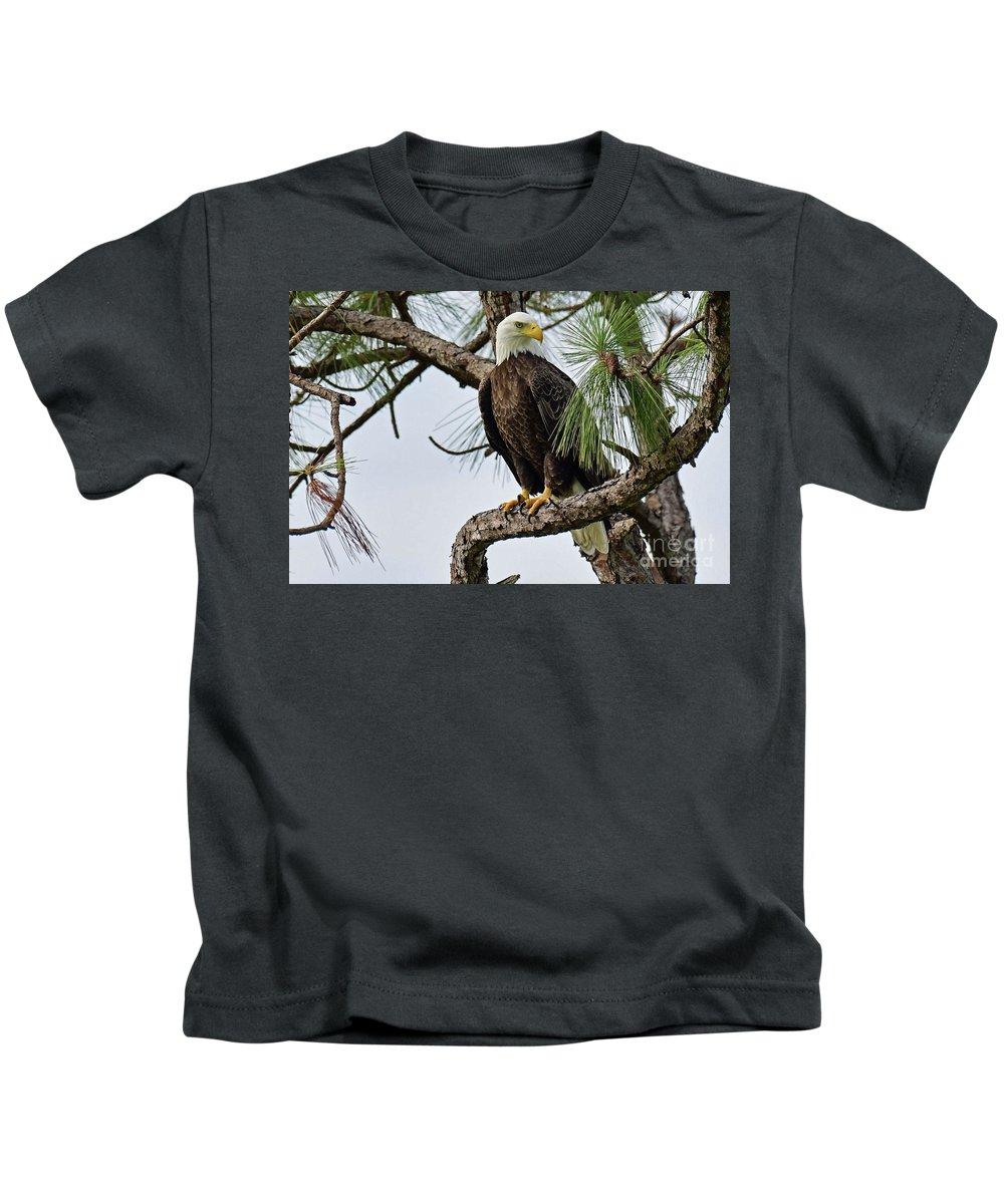 Kids T-Shirt featuring the photograph Harriet Front Pine by Liz Grindstaff