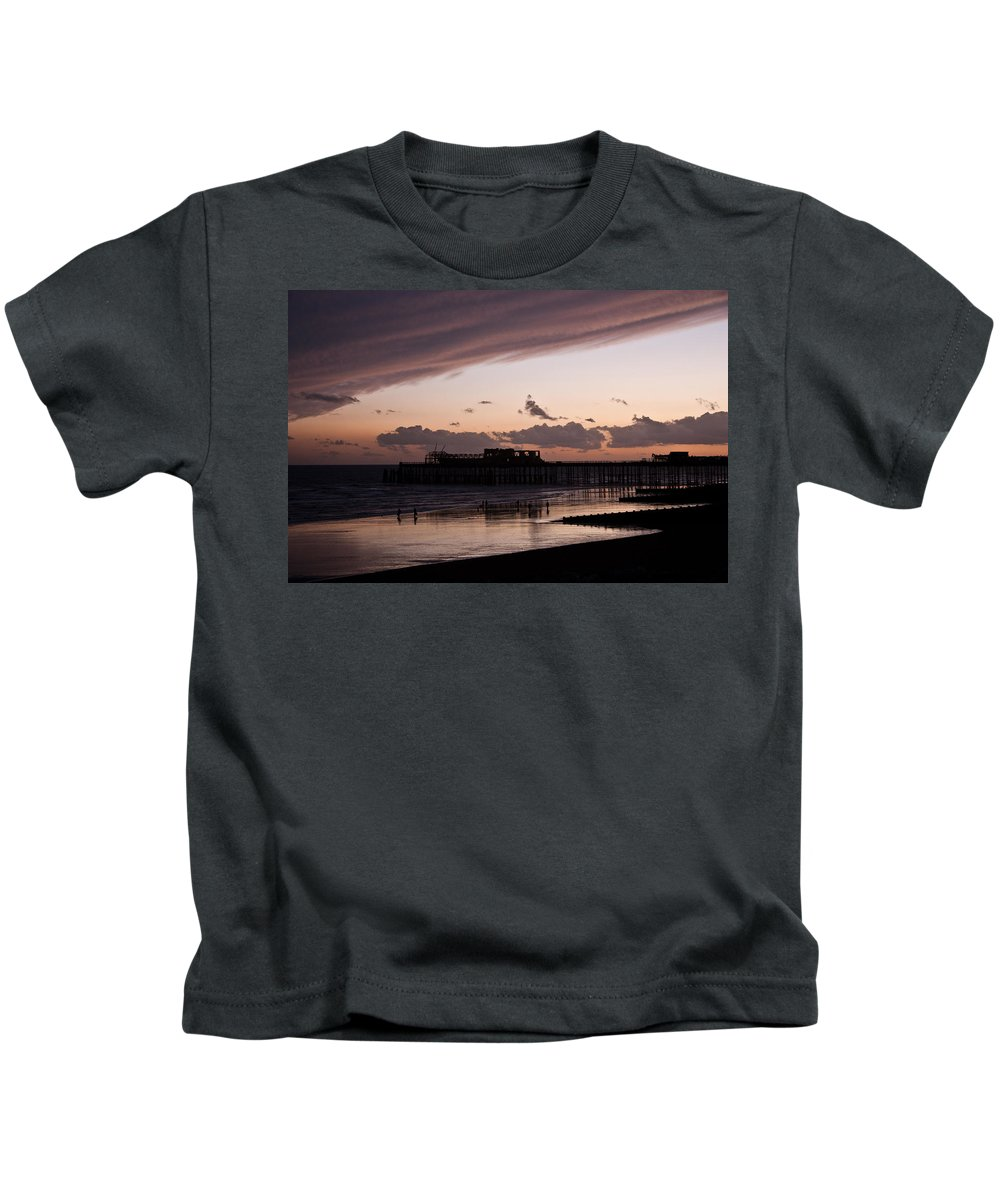 Hastings Pier Kids T-Shirt featuring the photograph Hastings Pier by Dawn OConnor
