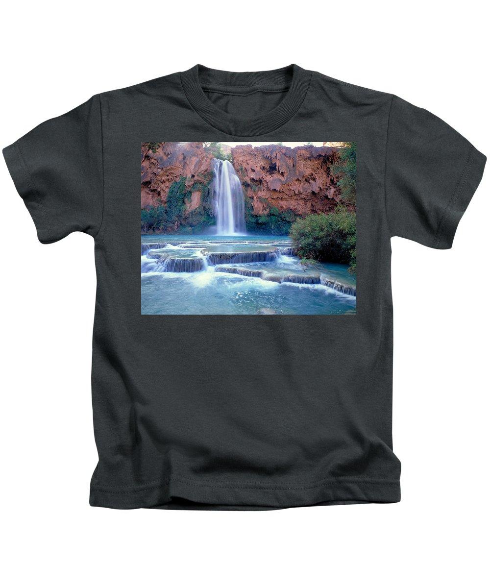 Waterfall Kids T-Shirt featuring the photograph Havasu Falls - Grand Canyon by Russ Finley