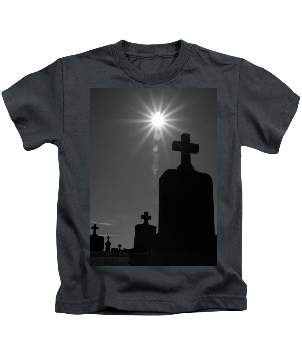 Cemetery Kids T-Shirt featuring the photograph Have Faith...bw by Karol Livote