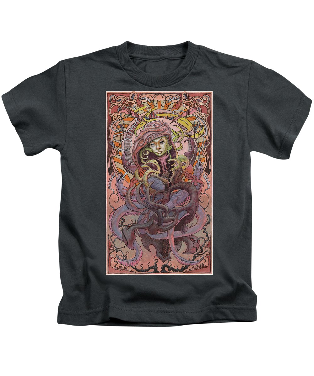 Shanty Town Kids T-Shirt featuring the painting he Sandbar Princess by Ethan Harris