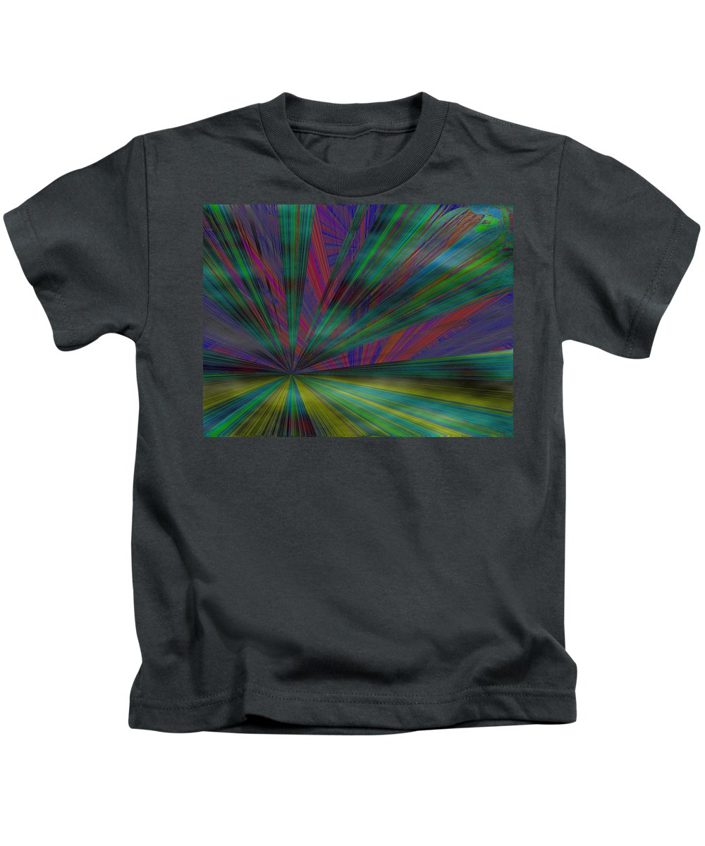 Abstract Kids T-Shirt featuring the digital art Head In The Clouds by Tim Allen