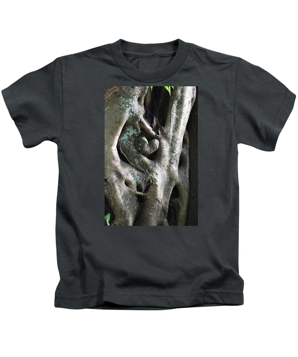 Tree Kids T-Shirt featuring the photograph Heart In The Temple Tree, Valparai by Jennifer Mazzucco