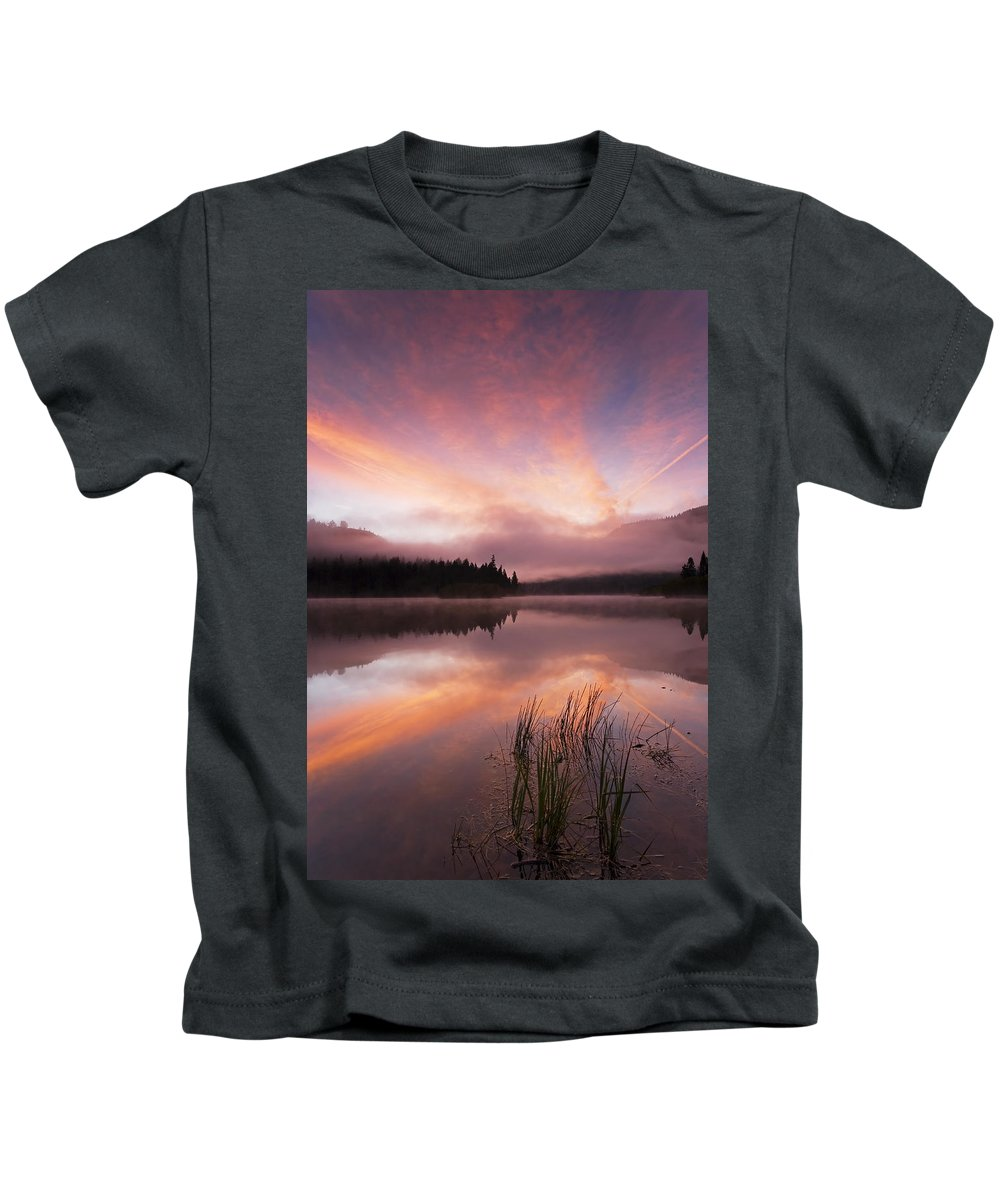 Sunrise Kids T-Shirt featuring the photograph Heavenly Skies by Mike Dawson