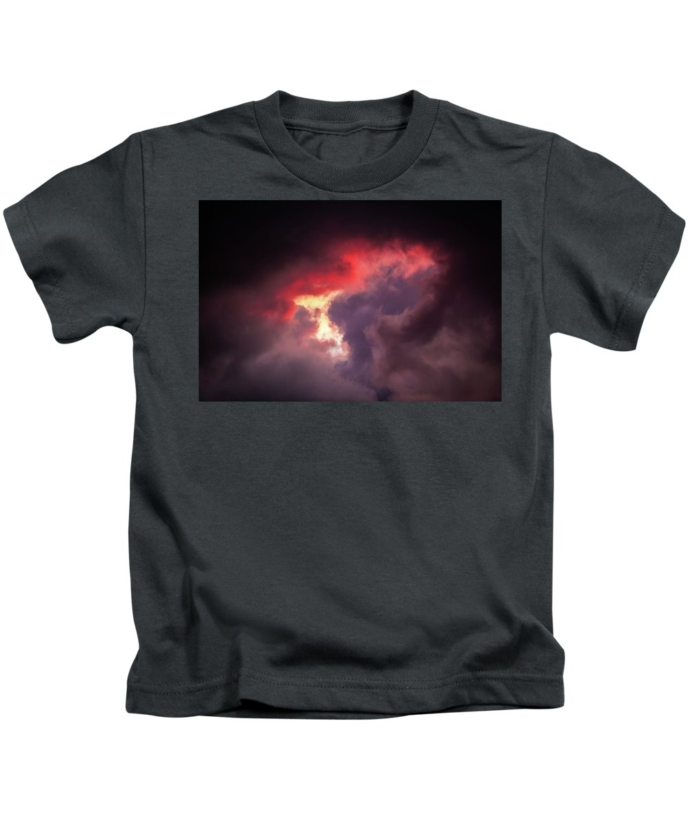 Sunset Kids T-Shirt featuring the photograph Heaven's Window by Jeff Phillippi