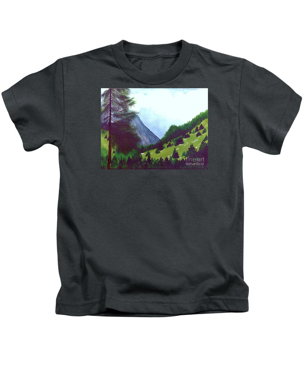 Original Painting Kids T-Shirt featuring the painting Heidi's Place by Patricia Griffin Brett