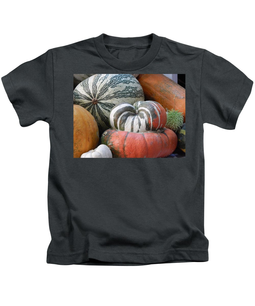Vegetables Kids T-Shirt featuring the photograph Heirlooms On Display #1 by Glen Faxon