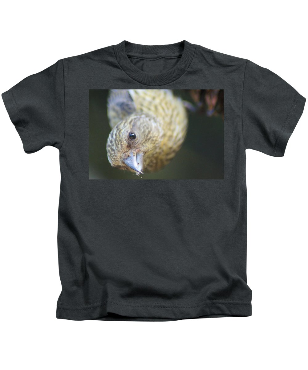 Fowl Kids T-Shirt featuring the photograph Hello by Jeff Swan