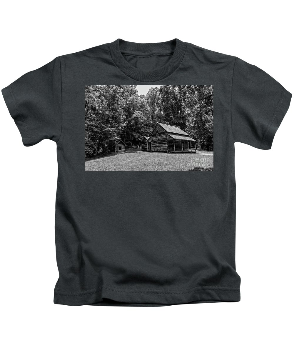 Log Cabin Kids T-Shirt featuring the photograph Henry Whitehead Place by Rodney Cammauf