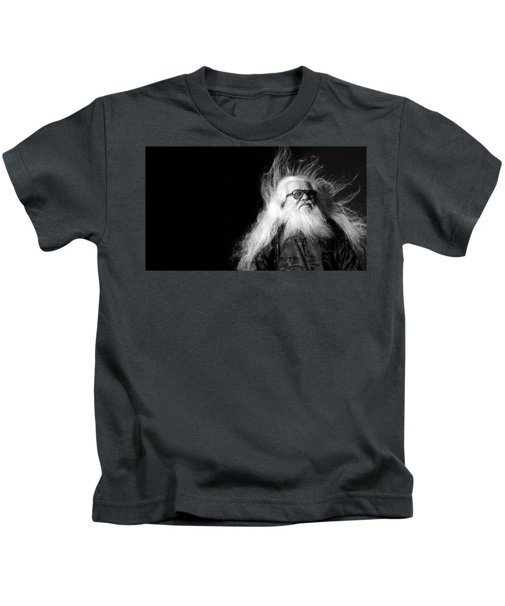 Hermeto Pascoal Kids T-Shirt featuring the digital art Hermeto Pascoal by Dorothy Binder