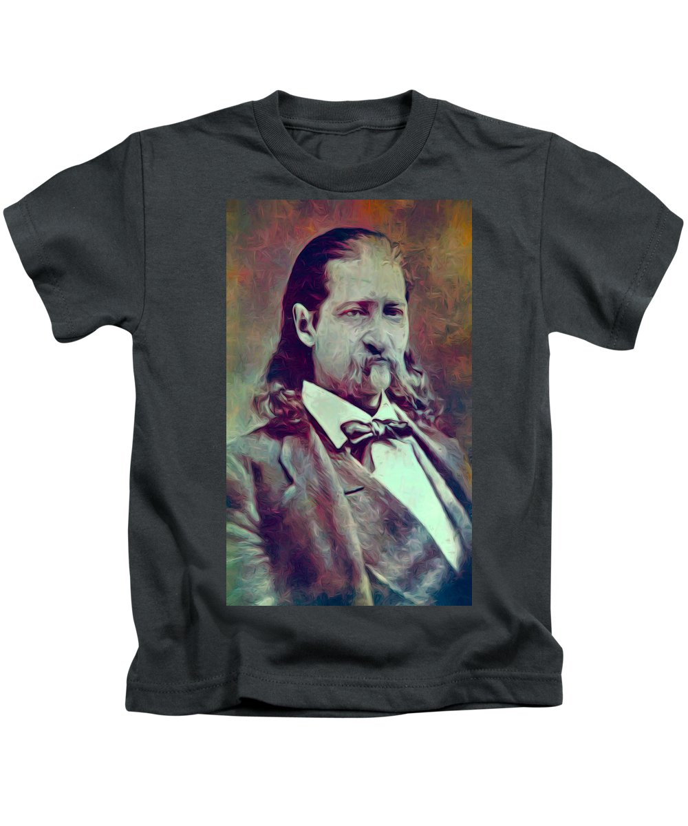 Hickok. Hickock Kids T-Shirt featuring the digital art Hickok Painterly by Daniel Hagerman