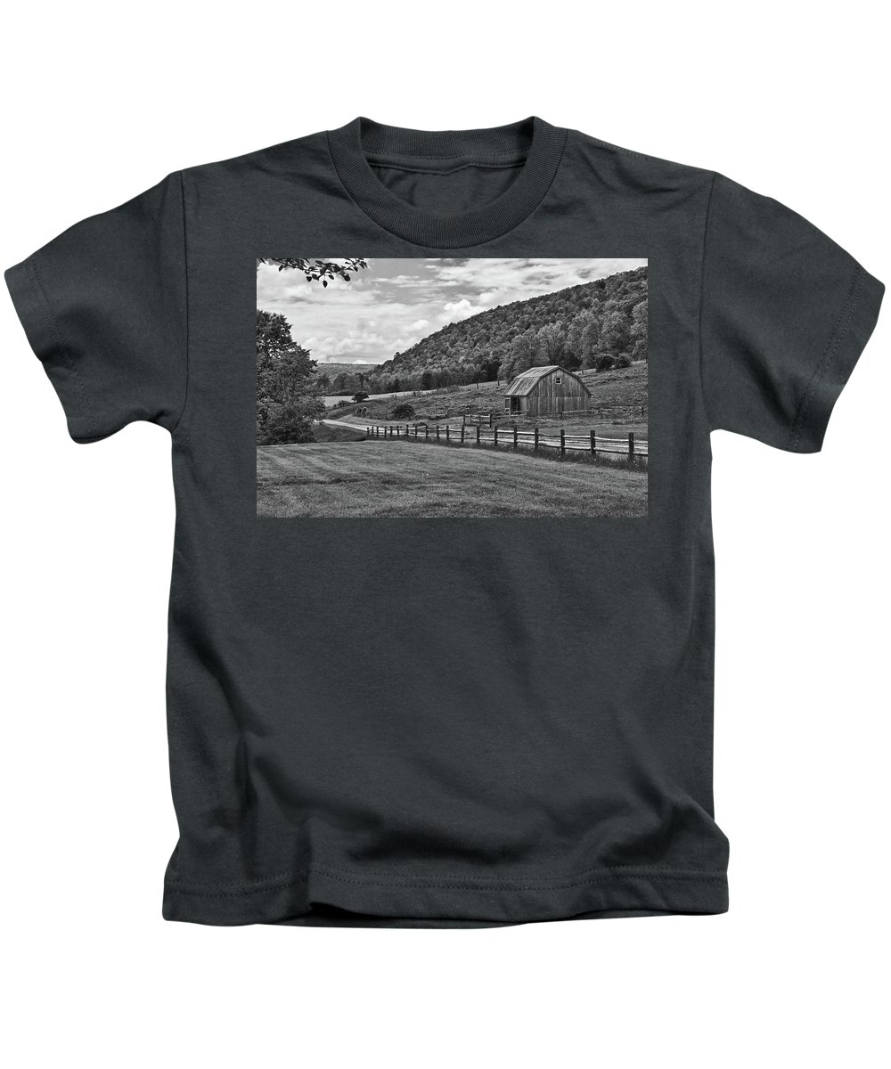 Barn Kids T-Shirt featuring the photograph Hickory Hills 0425 by Guy Whiteley