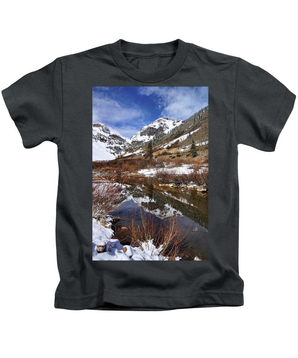 Colorado Kids T-Shirt featuring the photograph High Peak Reflections by Leda Robertson