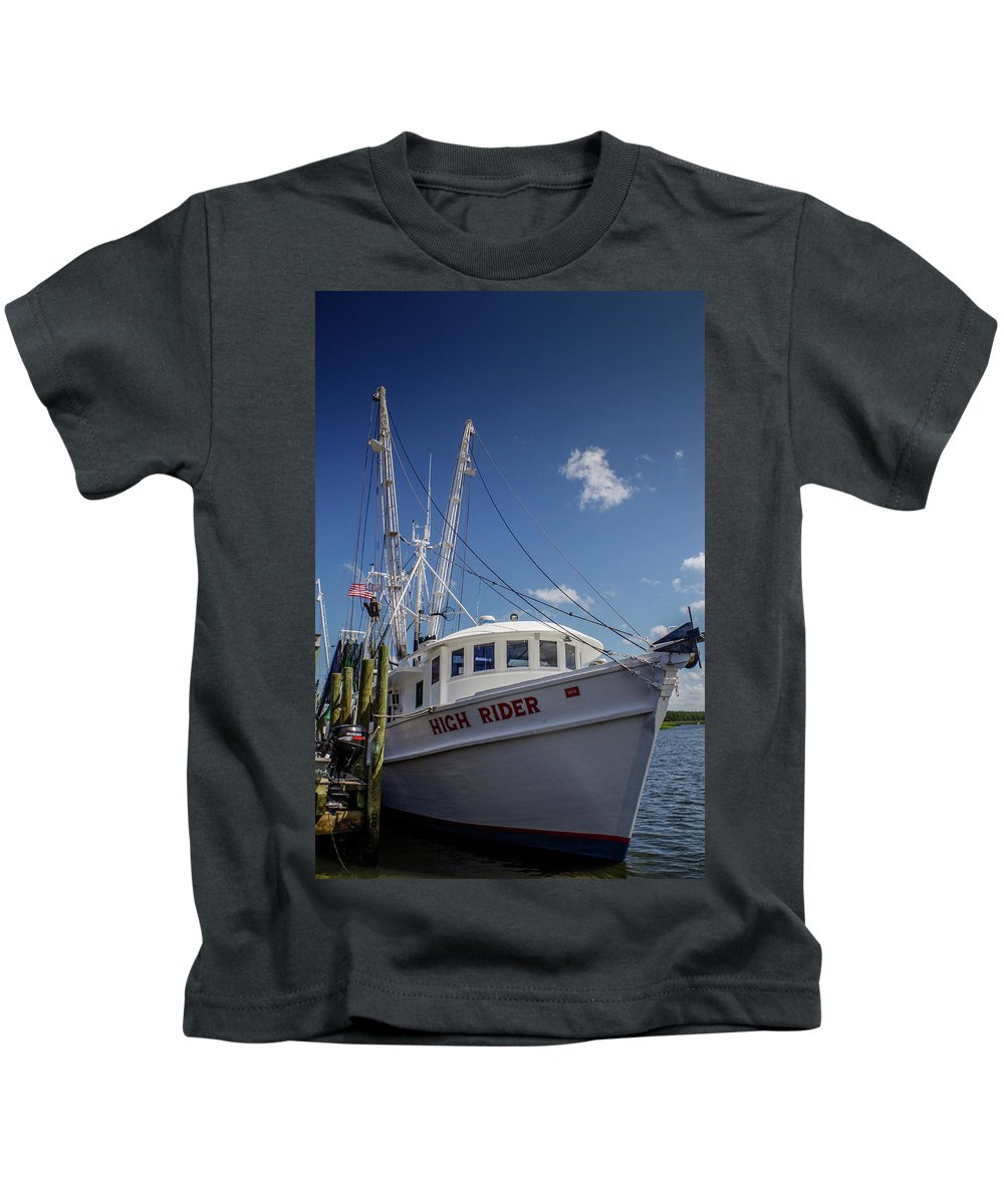Varbamtown Kids T-Shirt featuring the photograph High Rider by Gerald Monaco
