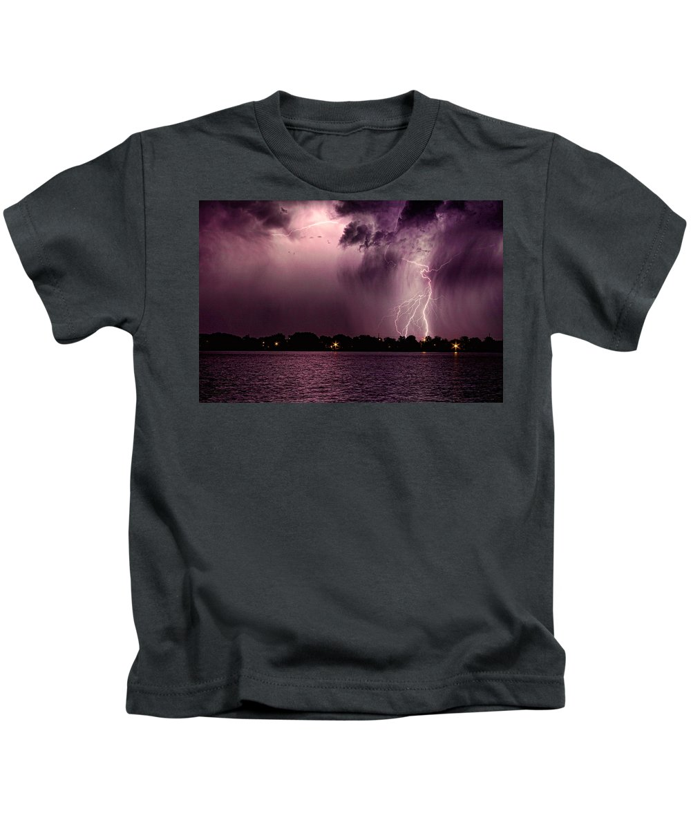 Lightning Kids T-Shirt featuring the photograph High Strike by James BO Insogna