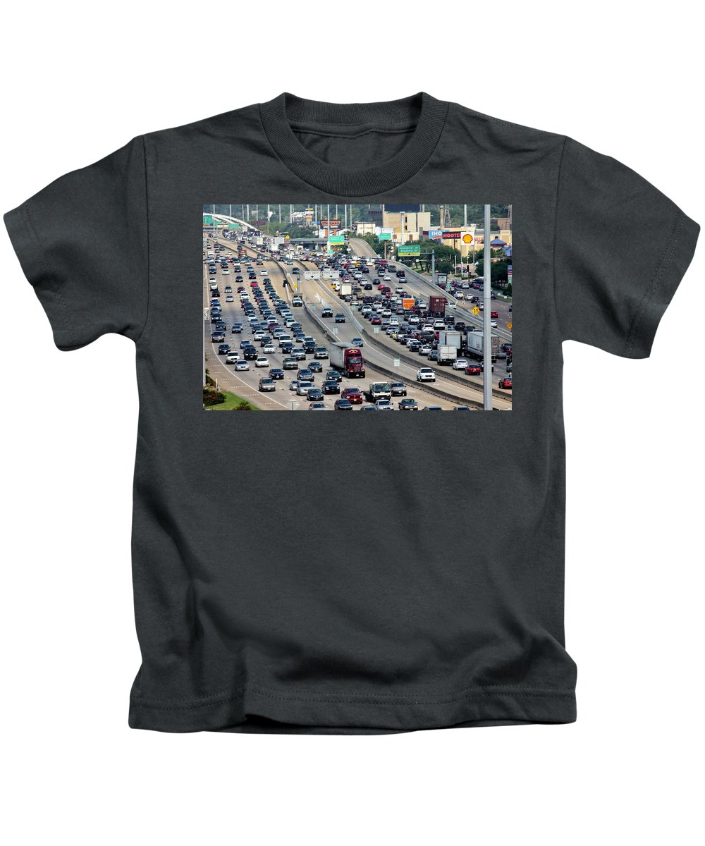 Phoenix Tower Kids T-Shirt featuring the photograph Highway 59 by Lorna Maza