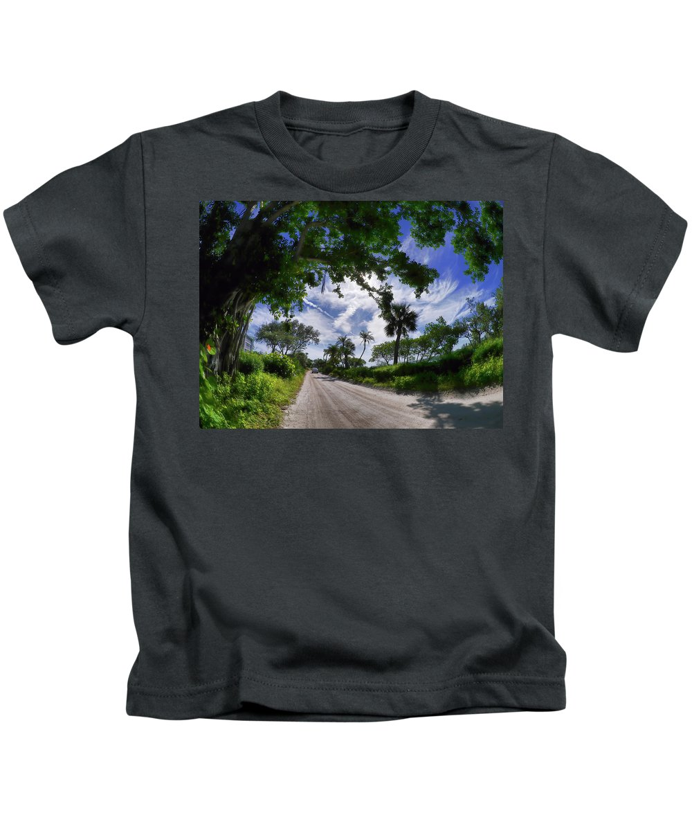 Kids T-Shirt featuring the photograph Historic Jungle Trail Vero Bch Fl V by Tina Baxter