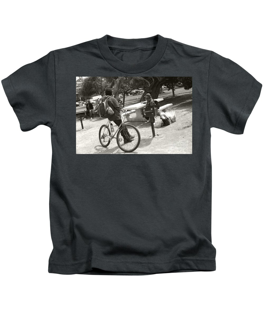 Homeless Kids T-Shirt featuring the photograph Holding Court by Heather Kirk