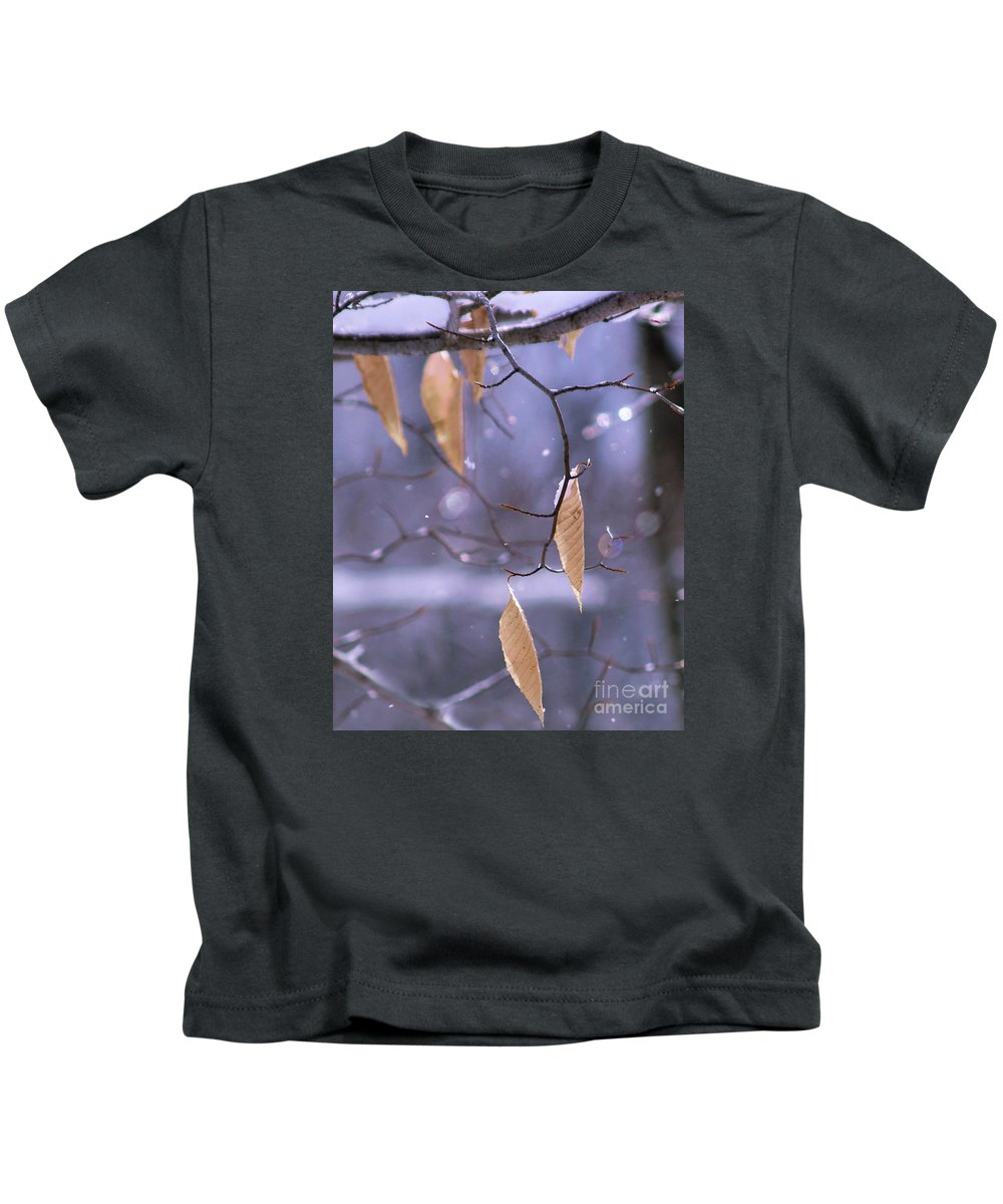 Nature Kids T-Shirt featuring the photograph Holding On by Dorothy Lee