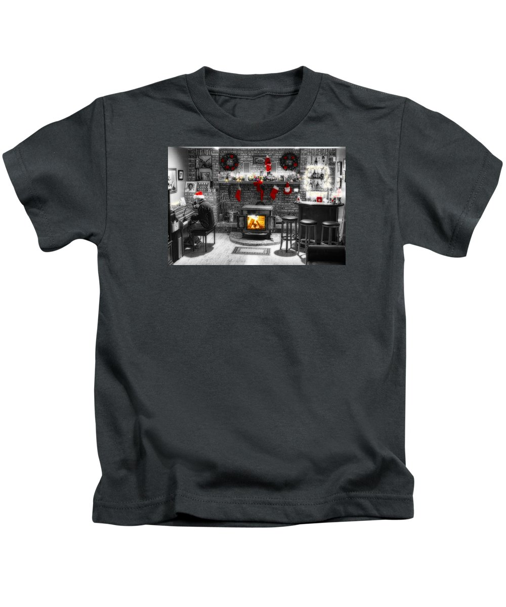 Holidays Kids T-Shirt featuring the photograph Holiday Spirit Magic Dream by James BO Insogna