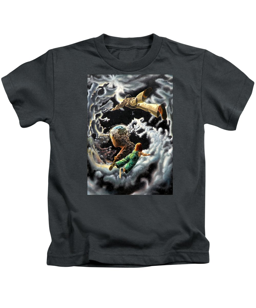 Fantasy Kids T-Shirt featuring the painting Homecoming by Dave Martsolf