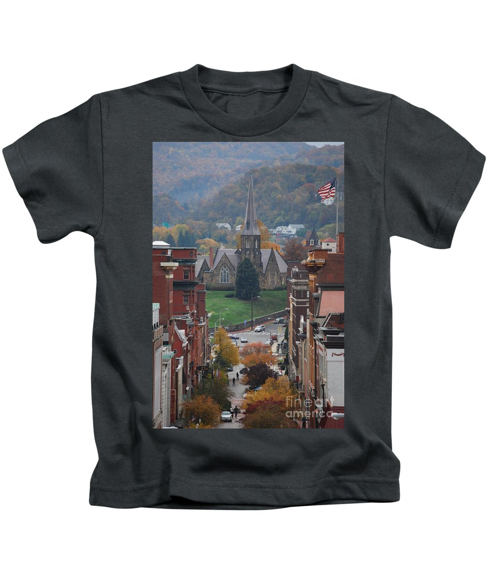 Cumberland Kids T-Shirt featuring the photograph My Hometown Cumberland, Maryland by Eric Liller