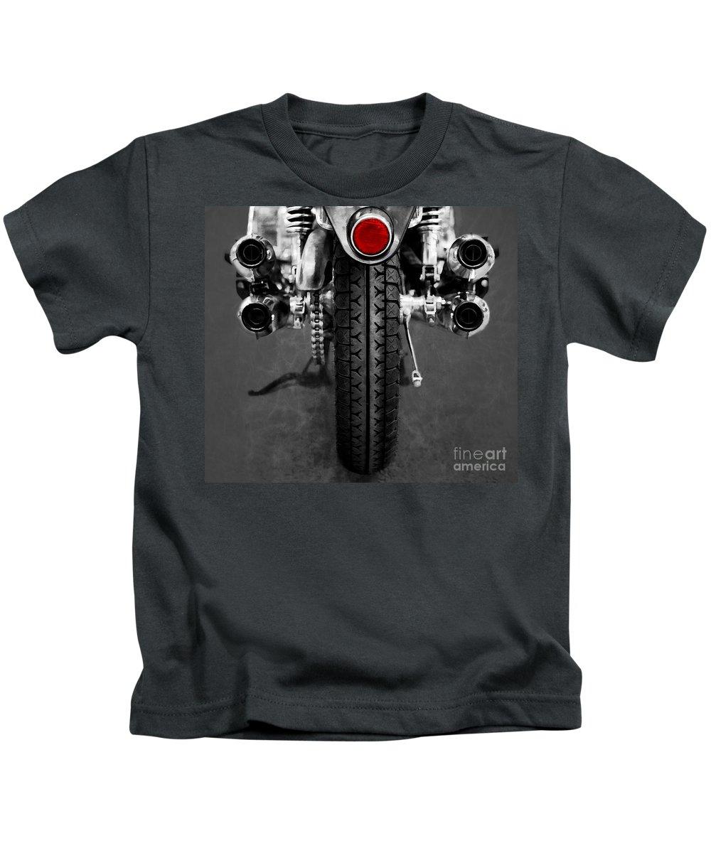 Honda Kids T-Shirt featuring the digital art Honda Four by Ari Salmela