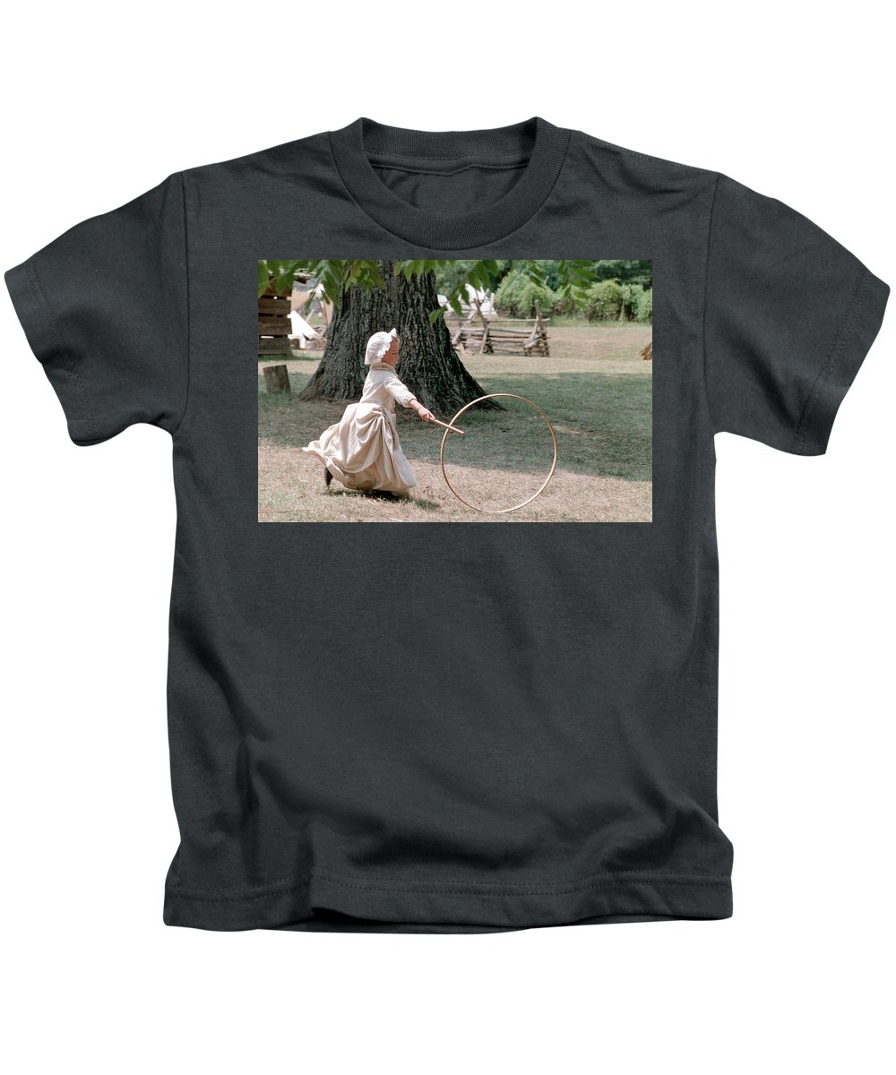 Hoop Kids T-Shirt featuring the photograph Hoop by Flavia Westerwelle