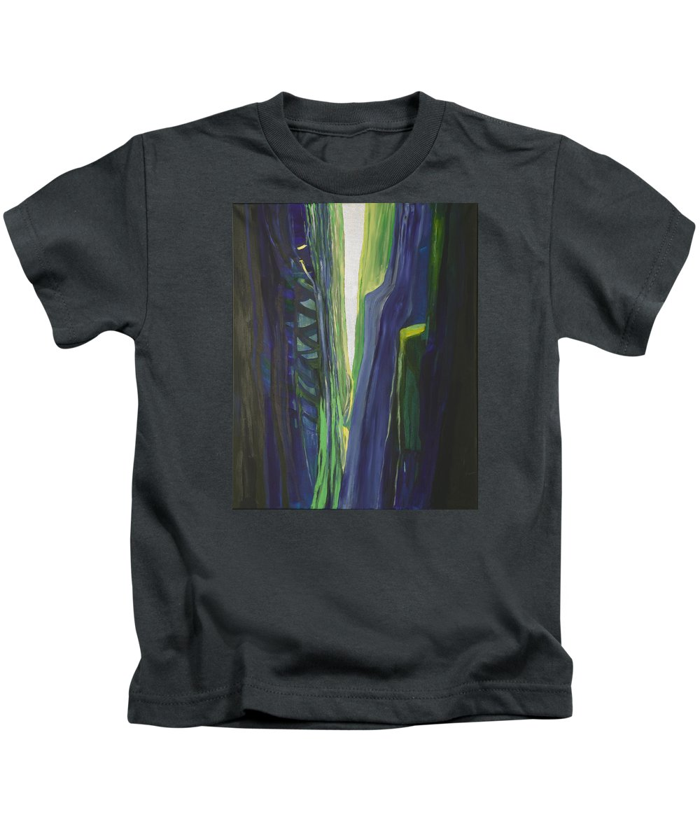 Landscape Kids T-Shirt featuring the painting Hope. by Jarle Rosseland