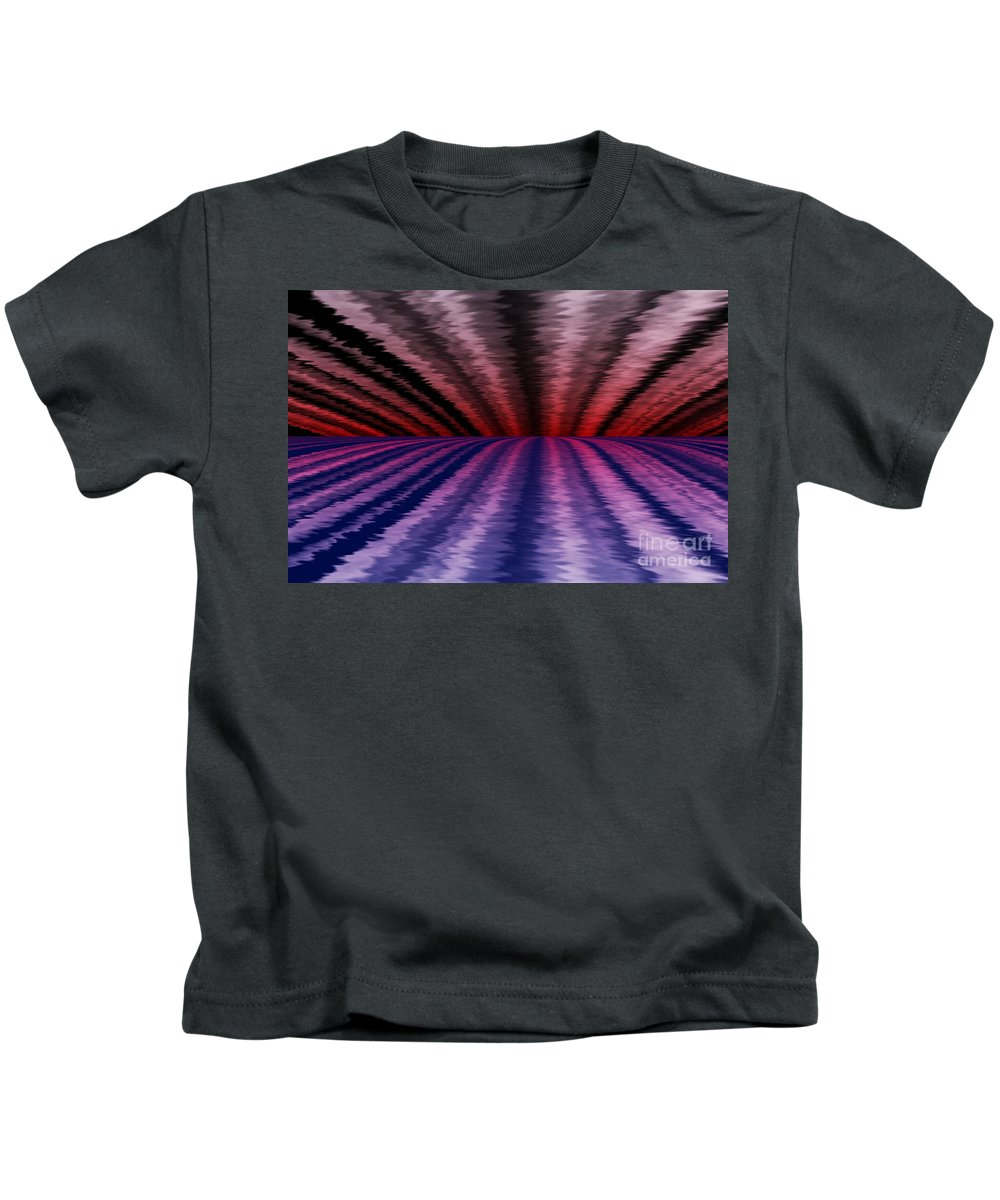 Abstract Kids T-Shirt featuring the digital art Horizon by David Lane