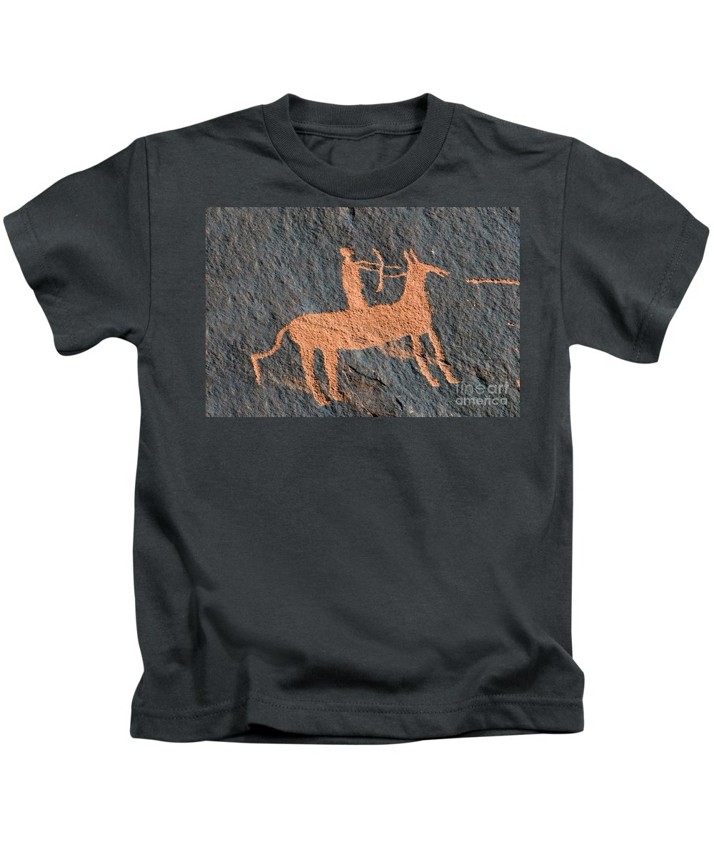 Bow And Arrow Kids T-Shirt featuring the photograph Horse And Arrow by David Lee Thompson