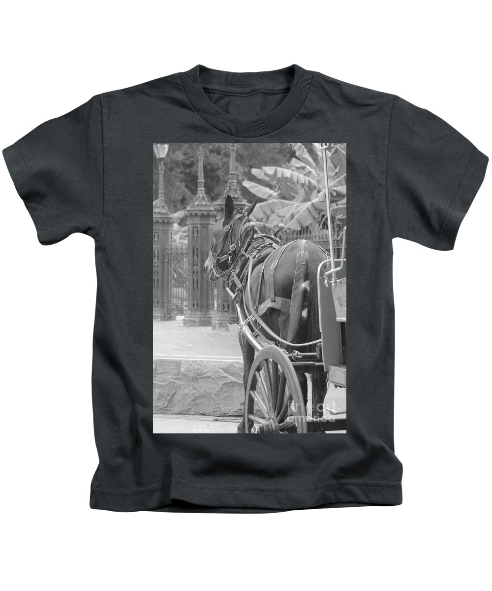 Horse Kids T-Shirt featuring the photograph Horse In The Quarter by Michelle Powell