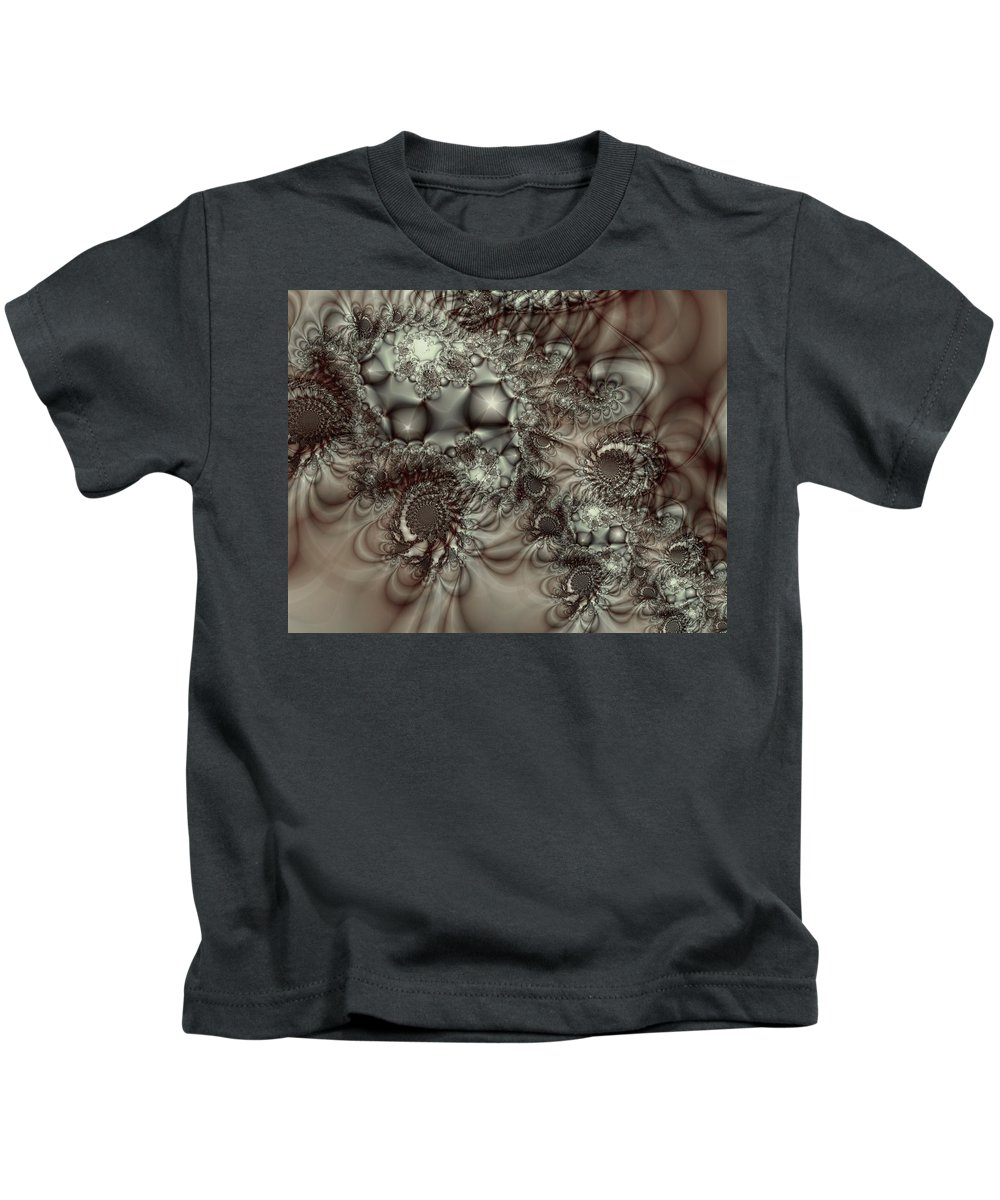 Green Kids T-Shirt featuring the digital art Hot Chocolate Possibilities by Casey Kotas