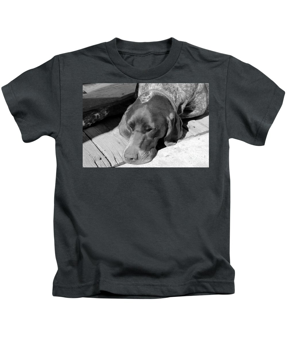 Dog Kids T-Shirt featuring the photograph Hound Dog by David Lee Thompson